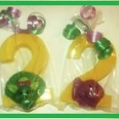 Barney and Baby Bop chocolate favors 2nd bday