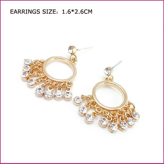 Sunshine Crystal Pierced Earrings