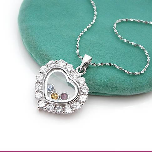 Pure Heart Silver (925 Sterling) Zircon Pendants
