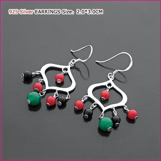 Innocent Silver (925 Sterling) Agate Earring