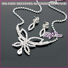 CZ Diamonds Butterfly Jewelry Set, Sets