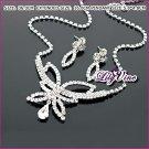 CZ Diamonds Butterfly Jewelry Set, Sets