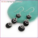 Dark Shine Silver (925 Sterling) Earring, Earrings, Sterling Silver