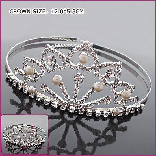 Elegant Pearl Crown, Tiaras