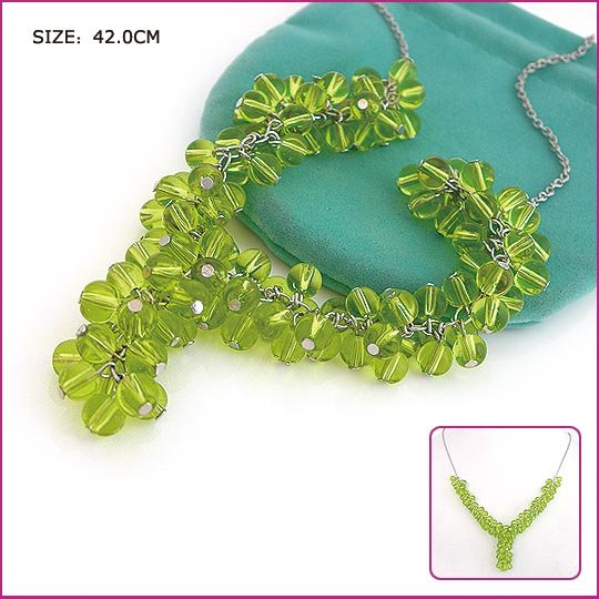 Silver (925 Sterling) Green Garnet Pendants, Necklaces, Sterling Silver