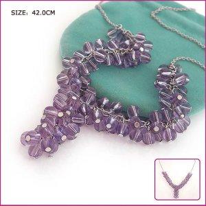 Silver (925 Sterling) Purple Garnet Pendants, Necklaces, Sterling Silver