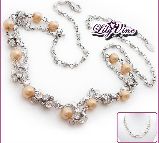 Crystal & Pearl Necklace, Necklaces