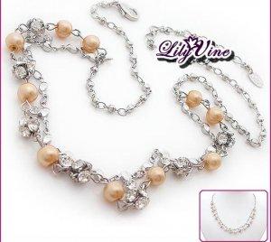 Crystal & Pearl Necklace, Necklaces