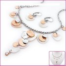 Lotus Leaf Shell & Crystal Jewelry Sets, Sets