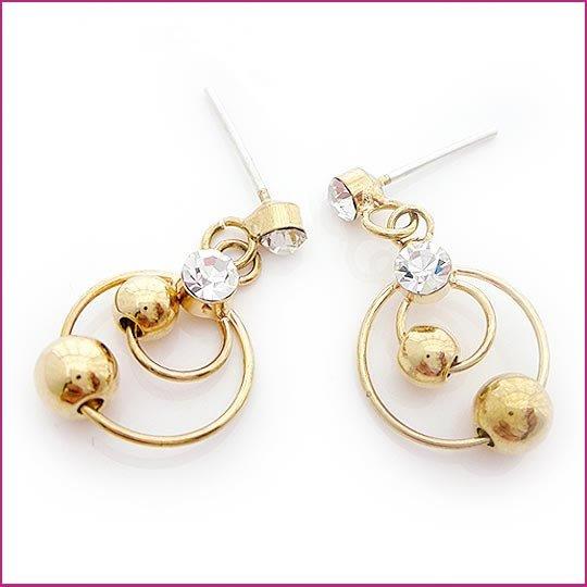 Crystal Pierced Earrings, Pierced earrings, Earrings