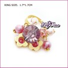 Amethyst Gold Plated Crystal Ring, Rings