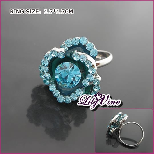 Kyanite Flower Crystal Ring, Rings