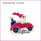 Driving Santa Claus Brooch, Brooches
