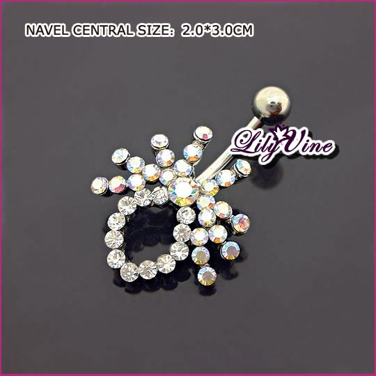 Crystal Spider Belly Ring, Belly Rings