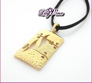 Golden Leaf Necklace, Necklaces