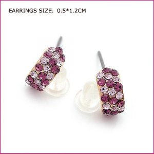 Crystal Pierced Earrings, Pierced earrings, Earrings