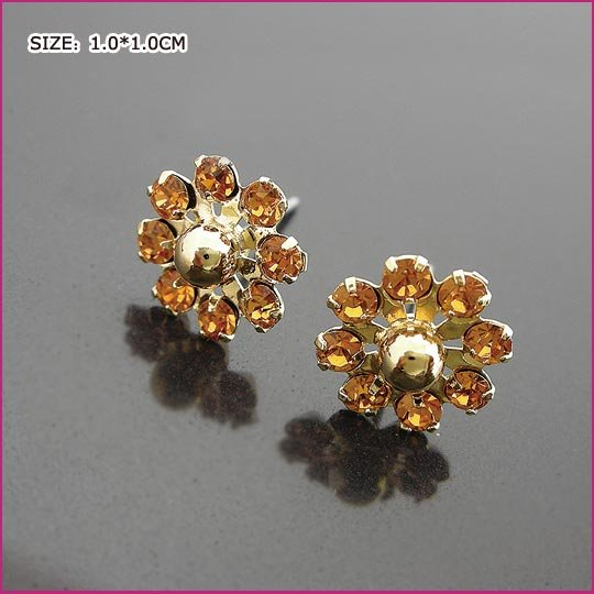 Noble Sun Flower Pierced Earrings, Pierced earrings, Earrings