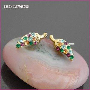 Golden Chili Pierced Earrings, Pierced earrings, Earrings