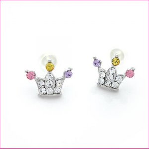 Crown Pierced Earrings, Pierced earrings, Earrings