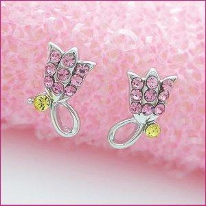 Tulip Silver Pierced Earrings, Pierced earrings, Earrings