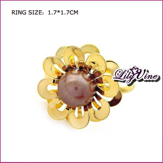 Flower Pearl Ring, Rings