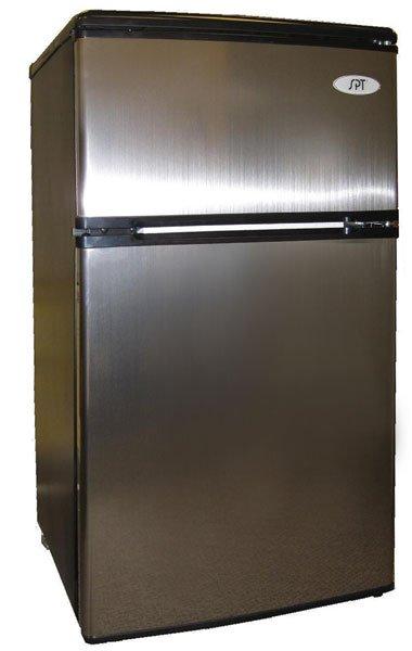 3.2 cu ft. Compact Dual Door Stainless Steel Refrigerator & Freezer RF-322SS