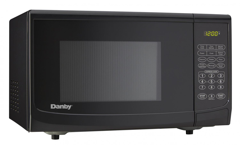 DANBY Black .7 cu ft Compact Countertop Microwave