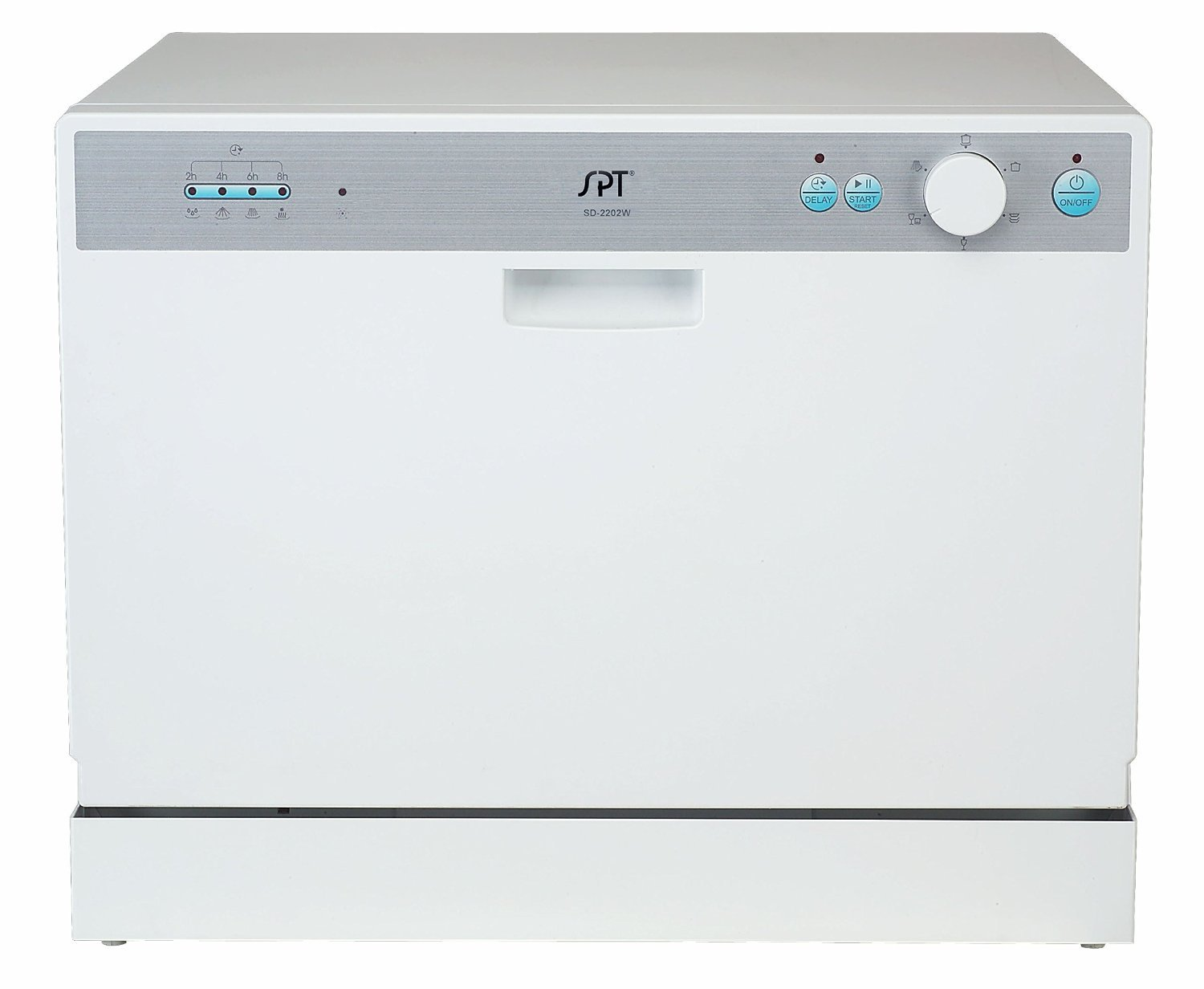 """17.24"""" White Countertop Dishwasher with Delayed Start"""