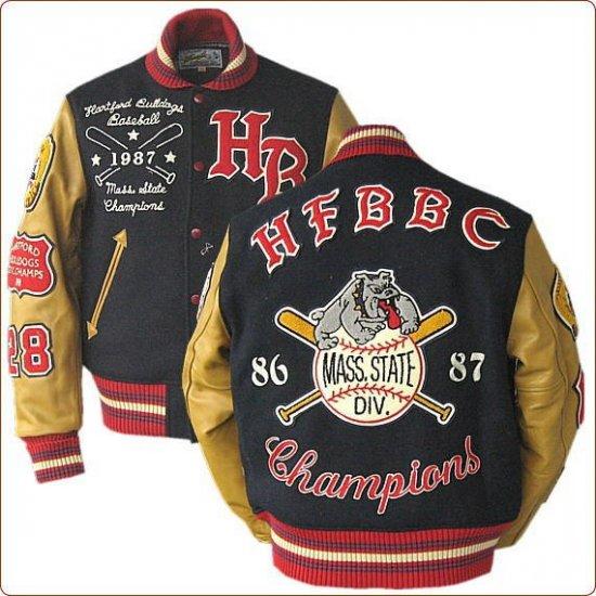 Whitesville Letterman Hartford Cavemen stadium jacket