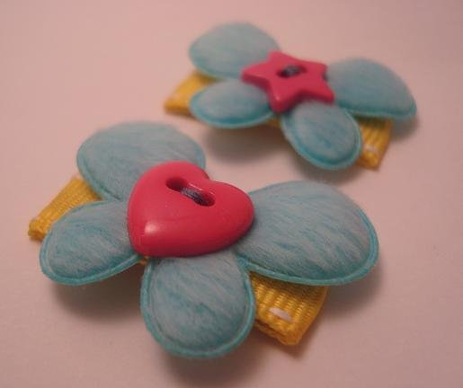 Spring Butterfly Clips