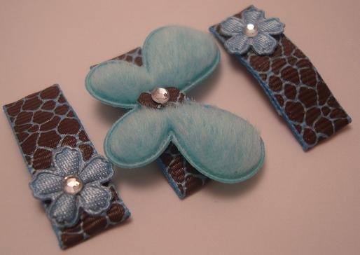 Blue Leopard Butterfly Set