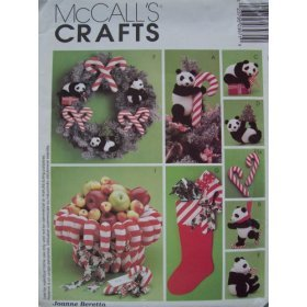 "McCall's Crafts P397 Pattern Christmas ""Panda"" Monium"