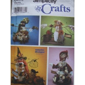 Simplicity Crafts 8469 Pattern Seasonal Snowman
