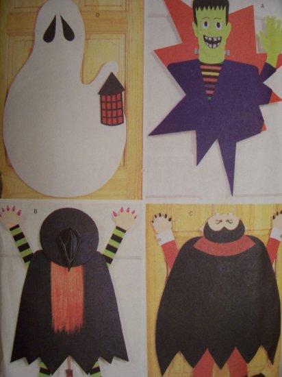 Butterick 3277 Craft Pattern No Sew Halloween Door Decorations