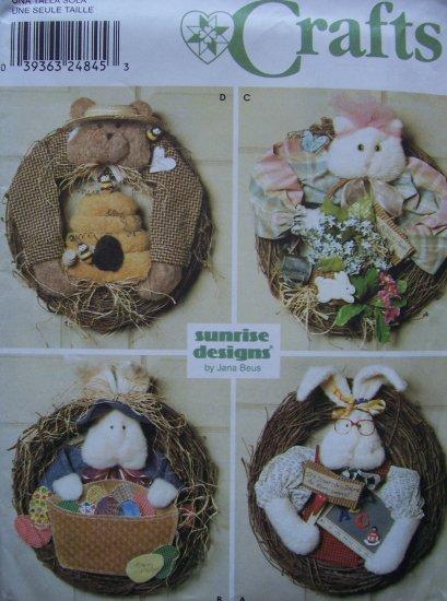 Simplicity Crafts 9641 Pattern - Decorative Door Wreaths