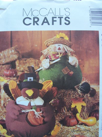Mccall's Crafts Pattern 4187 Scarecrow and Turkey