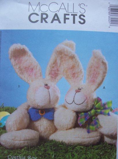 Mccall's Crafts Pattern 3553 Cuddling Bunnies