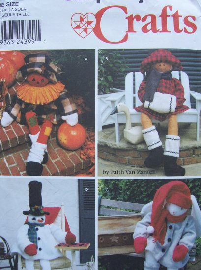 Simplicity Crafts Pattern 9443 Porch Sitters
