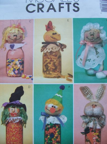Mccall's Crafts Pattern 3205 - Jar Toppers