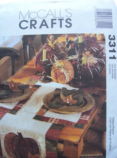Mccall's Crafts Pattern 3311 Fall Decorations