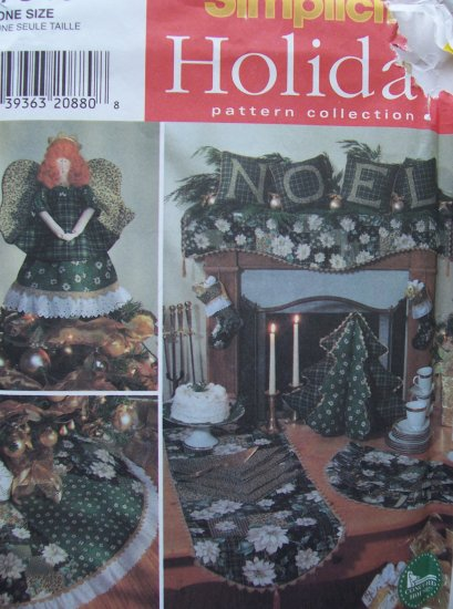 Simplicity Crafts Pattern 7846 - Angel Tree Topper, Stocking, Treeskirt, Tree Centerpiece & More