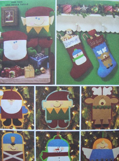Butterick Craft Pattern 3330 - Christmas Accessories
