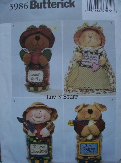 Butterick Craft Pattern 3986 - Jar Covers