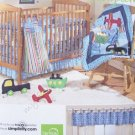 Simplicity Pattern 2279 Nursery Accessories - Crib Sheet, Dust Ruffle, Diaper Stacker, Truck Toy