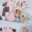 "Simplicity Pattern 2299 Stuffed Animals 10-1/2"" x 5-1/2"" - Cow, Pig, Pony"