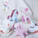 Simplicity Pattern 2763 Stuffed Animals - Horse, Deer, Dog, Chicken, Duck