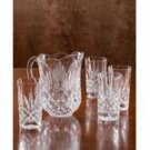 Godinger Dublin Crystal Breakfast Set Pitcher 4 Glasses