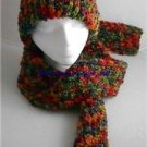 Handmade Knitted Soft Hat & Scarf Set  Multi-Colored