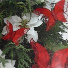 Set of 3 Vibrant Red Christmas Tree Butterfly Butterflies