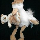 "Russ Special Delivery 13"" Stork with Baby Bear Great Baby Shower Gift"